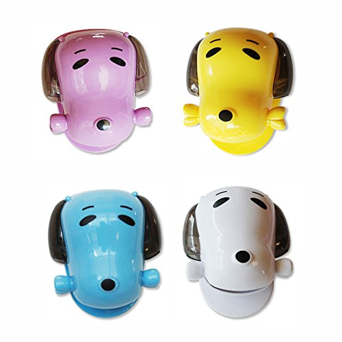GARASANI Toothbrush Holder Mini Dog Toothpaste Holder Toothpaste Dispenser (4 Colors Random)