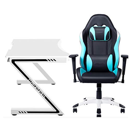 E-sports Stuhl Tisch Profi Super Familien Gebrauch Desktop Tisch und Stuhl Komplettset von Doppel Paar Spiel Computer Tisch Gaming Stuhl Blau
