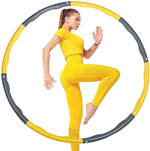 Hula Hoop Reifen Erwachsene, Abnehmbarer Hoola Hoop Reifen Kinder, Gewichtsreduktion und Massage für Fitness/Sport/Zuhause/Büro/Bauchformung - 1,2 kg/Φ95cm