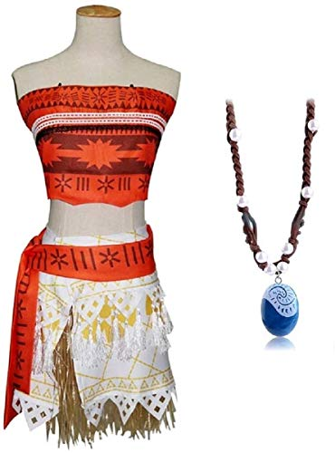 Inception Pro Infinite (Talla L) Disfraz completo - Incluye collar de Vaiana Moana - Mujer - Carnaval - Halloween - Disfraz - Cosplay - Adultos - Idea regalo
