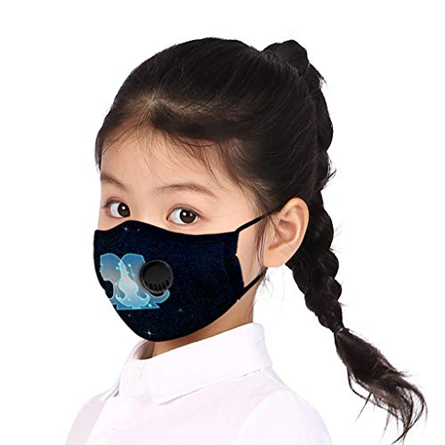 Buy HunYUN 2 Piece Multifunctional Head Scarf Neck Cover Face Shield Child Kids Constellation Print ...