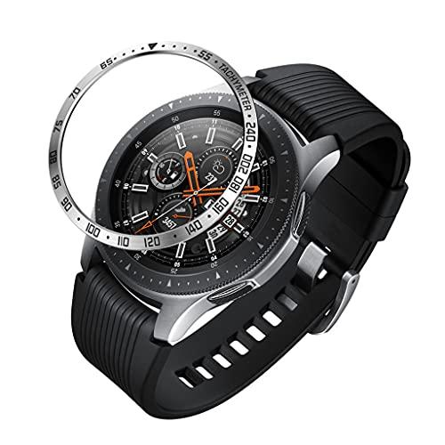 RipengPI Anillo de protección para Reloj, Anillo de Bisel de Metal de Acero Inoxidable, Reemplazo de Cubierta Adhesiva, para Samsung- S3 Galaxy- Reloj de 41 mm / 42 mm / 45 mm