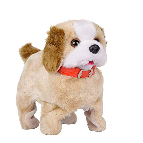 Techno Hight® Barking, Waging Tail, Walking and Jumping Puppy, Battery Operated Back Flip Jumping Dog with Sound and Music Best Gift for Toddlers and Kids