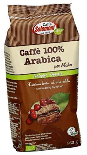 Salomoni Caffe 100% Arabica Bio per Moka, Confezione da 3 x 250 g
