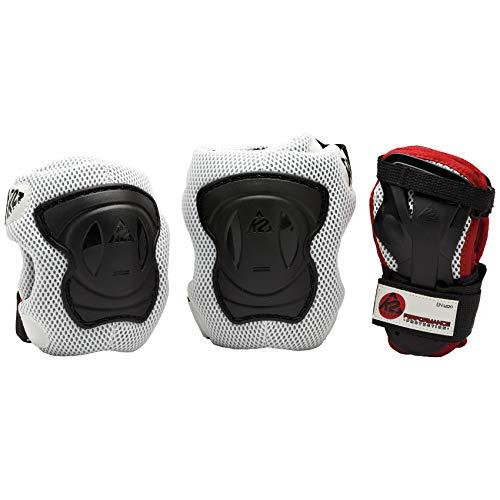 K2 Herren Schoner Performance M Pad Set, silber/schwarz/Rot, XL, 3041502.1.1.XL