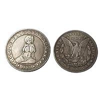 1881ワンダラーシルバーメッキコインモーガンダラーコインアメリカレトロコインUNCコインクラフト製品、商品の古代記念コレクションの模倣