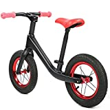 Durable Children Walker Bicycle, Children Walker Bicycle Shock Absorption Children Body Response Bicycle Backrest Cushion Carbon Fiber for 2-6 Years Old Child