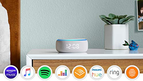 Echo Dot (3rd generation) | Smart speaker with clock and Alexa, Sandstone fabric