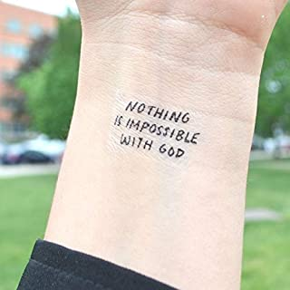 Nothing is Impossible With God - Temporary Tattoo