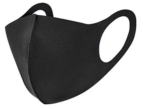 ATB-UV+素材使用 マスク(ブラック)×3枚セット 洗えるマスク 紫外線99%カット 抗菌 防臭 吸収乾燥が早い 優れた伸縮性 フリーサイズ ブラック(BLACK)あらえるマスク 通気性 立体構造 繰り返し使える ホコリ 花粉 PM2.5 対策 男女兼用