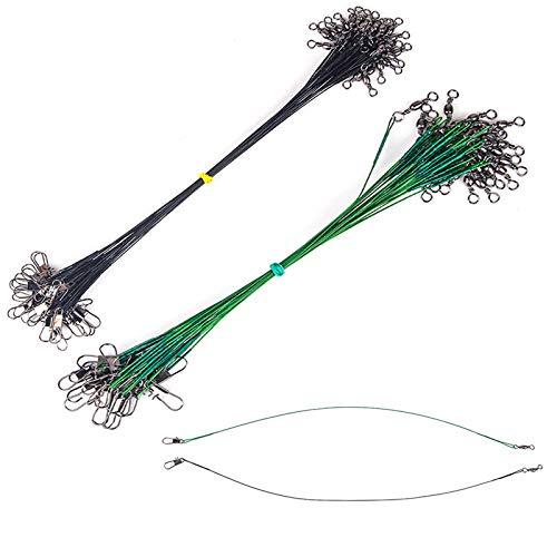 Cable del LíDer de Pesca Alambre de Pesca de Acero Inoxidable LíDeres Alambre Accesorios de Pesca Profesionales y PráCticos para Peces Depredadores para Pescar 30 cm Fuerza de TraccióN 14 kg 40 Piezas