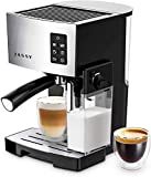 Espresso Coffee Machine 19 Bar High Pressure Cappuccino Maker with Powerful Milk Tank,One-Touch Brewing for Cappuccino/Latte/Mokka,1250W
