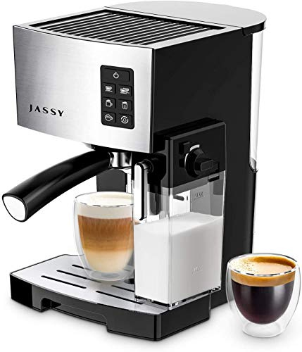 Espresso Coffee Maker 19 Bar Cappuccino Machine for Home Barista Brewing,High Pressure Pump & Powerful Steamer,Adjustable Cup Shot Function,1250W