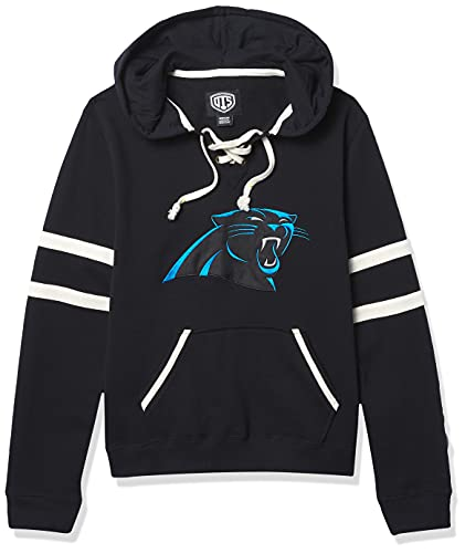 OTS - NFL - Sudadera con capucha, con cordones, para mujer - NFL W OTS Grant Lace Up P/O Hood, S, Negro azabache