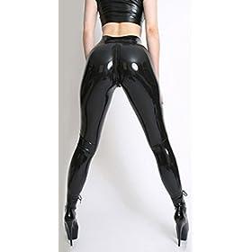 VsvoLatex Womens Latex Rubber Pants Jeggings