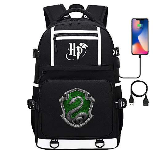 Zaino scolastico per adolescenti Harry P Magic Academy, porta di ricarica USB, zaino da trekking casual da viaggio all'aperto 17 pollici tipo-10