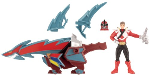 Power Rangers Super Samurai Zord /& Figure Set with OcotoZord BeetleZord /& Scorpion Creature Figure Bandai SwordfishZord