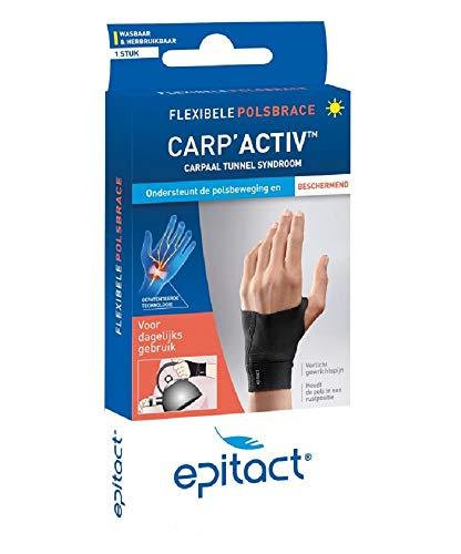 Epitact Carp Activ Rechter hand maat M. Wanneer u last heeft van het Carpaal tunnel syndroom (CPS), spier- en gewrichtsaandoeningen of peesontstekingen aan de pols.