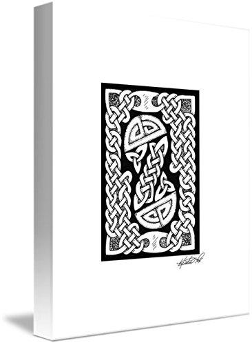 Wall Art Print entitled Celtic Figure Eight by Kristen Fox
