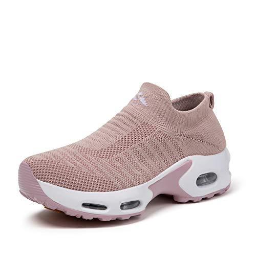 Mishansha Zapatos Deporte Mujer Zapatillas Deportivas Correr Gimnasio Casual Zapatos para Caminar Mesh Running Transpirable Sneakers
