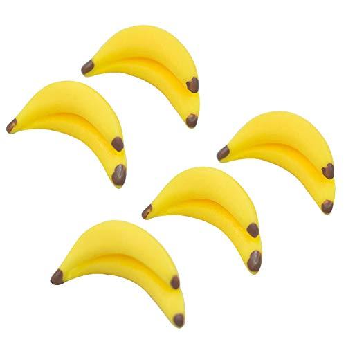 Ruby569y - Accessori per la casa delle bambole fai da te, 5 pezzi a forma di banana, per la casa delle bambole, in miniatura, per il gioco degli alimenti, modello decorativo