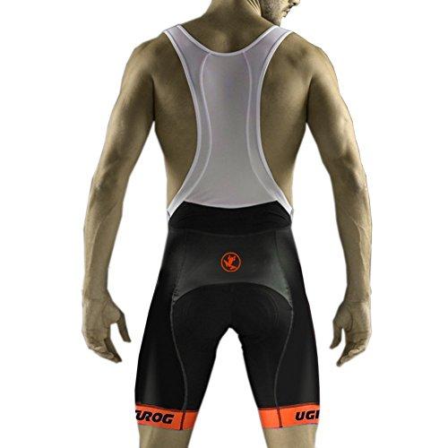 Uglyfrog Salopette per Ciclismo da Uomo con Pantaloncini Imbottiture in Gel Estate Attillati DKMZ01