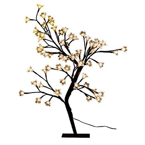 SPNECon Pilas del LED árbol de la Flor de Las Luces con luz Flor de Cerezo de la luz del árbol de Mesa LED de la lámpara del árbol - Plantas Artificiales Decoración Luz