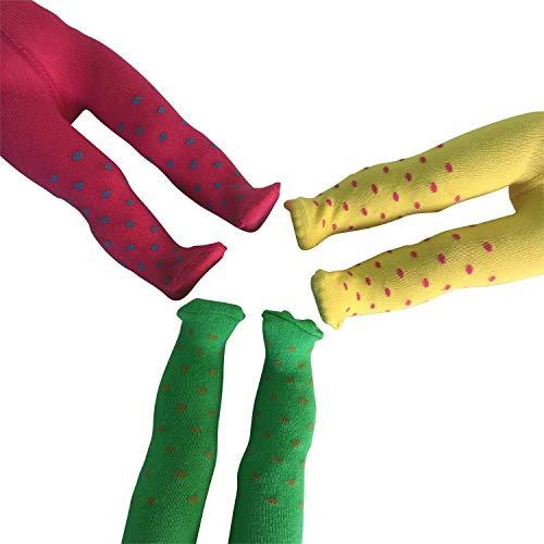 The New York Doll Collection Satz von 3 Polka Punkte Strumpfhose passt 18 Zoll / 46 cm Modepuppen - Puppen Gamaschenhose - PuppenKleidung Zubehör