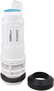 RDEXP White 21cm Height Toilet Bottom Inlet Fill Valve Split Push Button Dual Flush Cistern Syphon