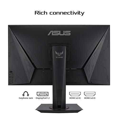 Asus TUF Gaming VG279QM 68,6 cm (27 Zoll) Monitor (FullHD, Fast IPS, übertaktbar auf 280Hz, 1ms Reaktionszeit, G-SYNC kompatibel, DisplayHDR 400, 1ms Reaktionszeit) schwarz
