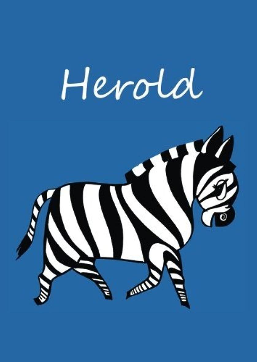 Herold: individualisiertes Malbuch / Notizbuch / Tagebuch - Zebra - A4 - blanko