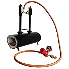 Gas Forge and Accessories are made from Steel and The Burner Nozzle is made from SS-304 material Large Heating zone is lined with 1 in. thick ceramic fiber blanket which is coated by Rigid1izer, It can resist 2600° Fahrenheit (1425° Celsius Approx.) ...