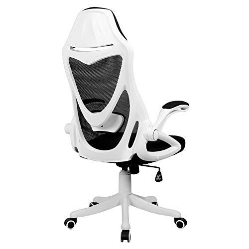 HEMFV Sedia da scrivania ergonomica Gaming Chair, sedia ergonomica da ufficio, Comodità regolabile in altezza Gaming Chair, 90 ° di rotazione del bracciolo Design, a 4 stop di sollevamento supporto lo