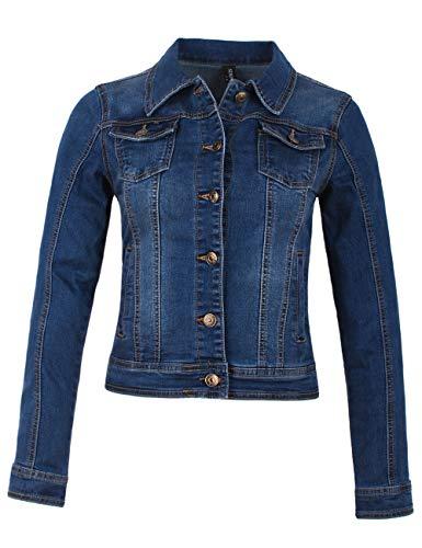 Fraternel Chaqueta Vaquera para Mujer Denim Jacket Azul XXL / 44