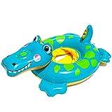 Piscina Hinchables Niños Flotadores, BESTZY Flotador bebé, Piscina Hinchables Niños Flotadores para Bebe con Asiento, Inflable Juguetes Regalos, Anillo de natación Inflable