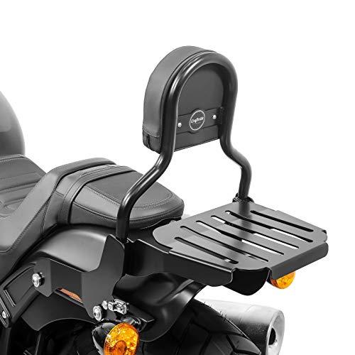 Sissy Bar CL + Porte Bagages pour Harley-Davidson Softail Fat Bob 18-19 Noir