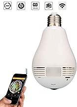 SHYLOC Bulb IP Camera WiFi Panoramic 360 Degree Camera Wireless Light Bulb Fisheye Camera CCTV Smart Home 3D VR Security Bulb WiFi Camera