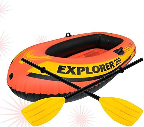 Zwembad, opblaasbare boot voor 2 personen om aluminium peddel en handmatige luchtpomp met hoge output 211 * 117 * 41CM buiten te sturen