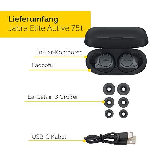 Jabra Elite Active 75t True Wireless Stereo In-Ear Sport-Kopfhörer - 4