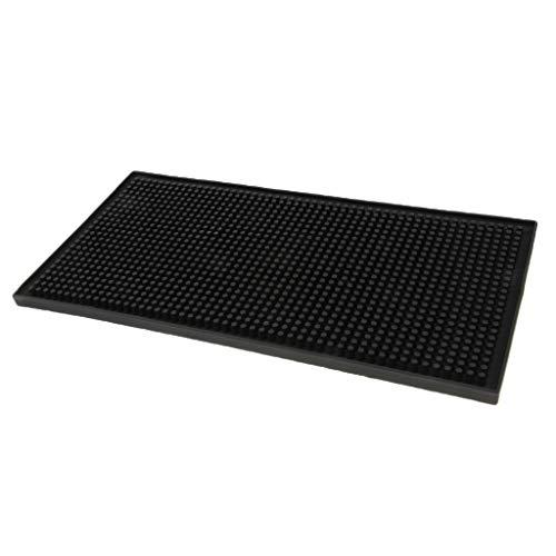 Homyl Schwarze Gummi Abtropfmatte Slim für die Spülablage, Schwarz - Black, 30x15x1cm