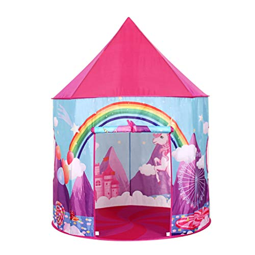 Tents Castle with Princess Pattern, Tipi Teepee for Baby, Play Ball Pool Kindergarten Reading Corner Yurt Bedroom for Girls (Size : 105 * 105 * 135CM)