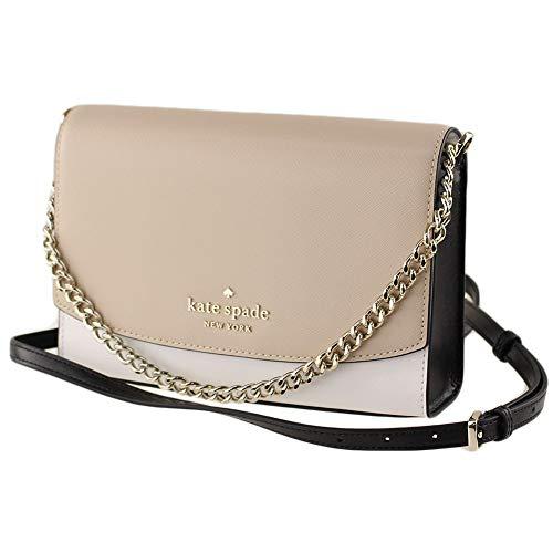Kate Spade New York Carson Leather Convertible Crossbody Shoulder Bag Handbag, Warm Beige Multi