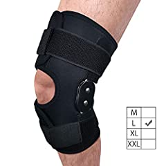 """【Size: L】We provide 4 available size for people with different leg circumference for Left & Right Leg. Please measure your leg circumference at the place of 4"""" (10cm) above the knee cap. Size L provides the maximum and best Knee Support for people wi..."""