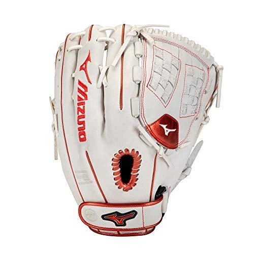 Mizuno Unisexs 312853F001151250 Baseball Clothing Batting Gloves WhiteRed Trident Web One Size