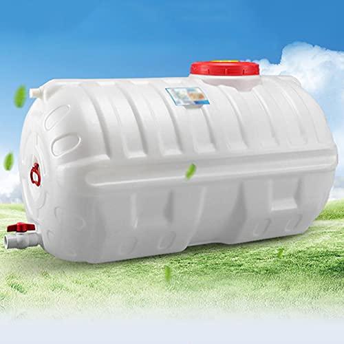 WWJQ Bidón Plástico Depósito de Agua de Plástico Grueso para Exterior, Contenedores de Agua de Almacenamiento de Larga Duración, Barril De Vino con Tapa y Válvula