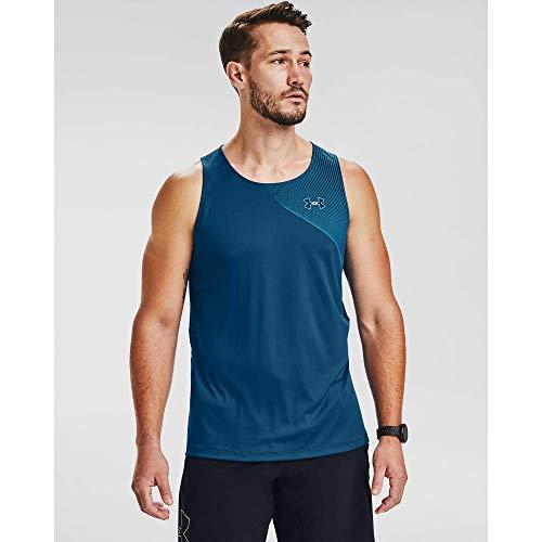 Under Armour Qualifier ISO-Chill Snglt Camiseta de Tirantes Anchos, Hombre, Azul Grafito,...