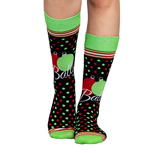 Costume Agent Adult Balls Ugly Christmas Black Green and Red Socks