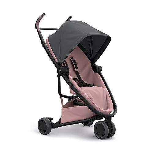 Quinny Zapp Flex Kinderwagen, stylischer Komfort Buggy mit 3 Rädern, angenehm leicht, kompakt faltbar und nutzbar ab ca. 6 Monate, Graphite on Blush