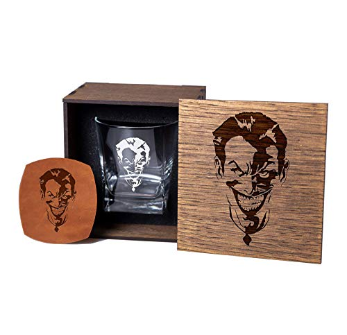 Super Heroes Whiskey Glass Gift Set. Joker Fans Gift