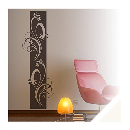 Exklusivpro Wandtattoo Wandbanner Ornament Ranke Wohnzimmer Schlafzimmer Bordüre (ban38 cremeweiß) 120 x 39 cm mit Farb- u. Größenauswahl